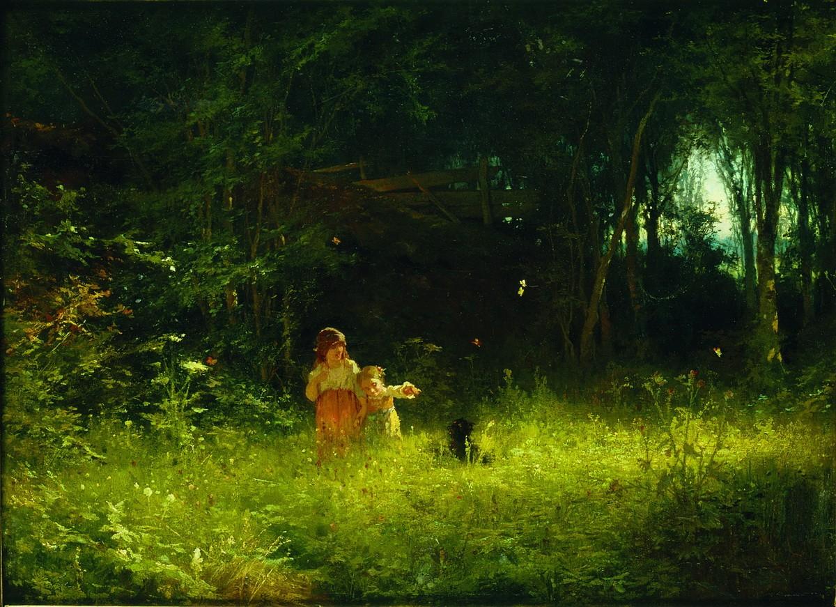 Children in the woods, 1887, Ivan Kramskoy